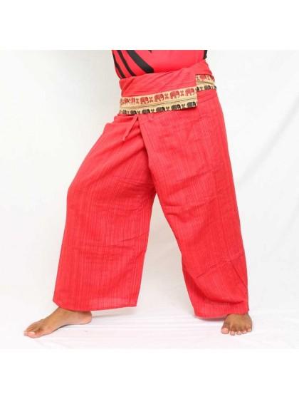 กางเกงเลยาว * สีมังคุดขอบลายช้าง สีตามแบบ