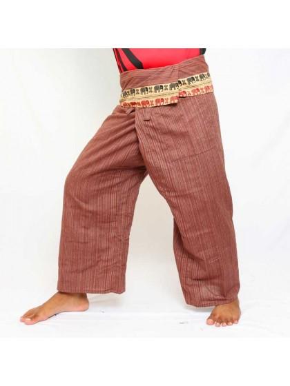กางเกงเลยาว * สีแดงขอบลายช้าง สีตามแบบ