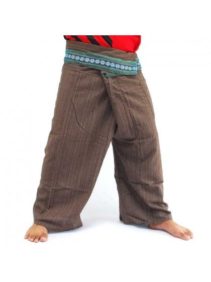 กางเกงเลยาว * สีเทาอ่อนขอบลายดอกพิกุล สีตามแบบ