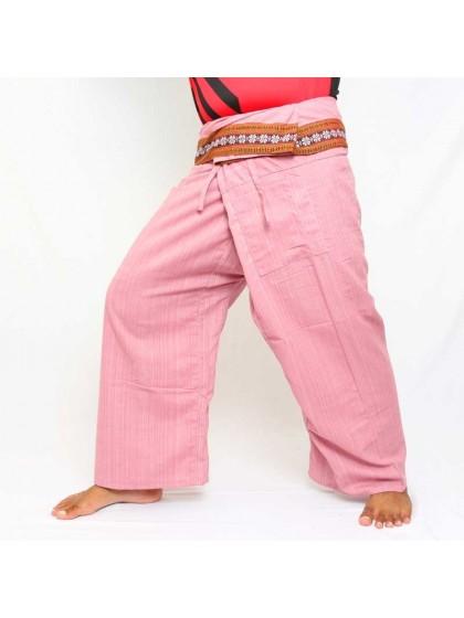 กางเกงเลยาว * สีแดงขอบลายดอกพิกุล สีตามแบบ