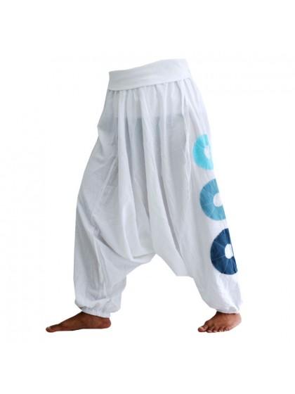 กางเกงอลาดิน ลายโดนัท * สีขาว