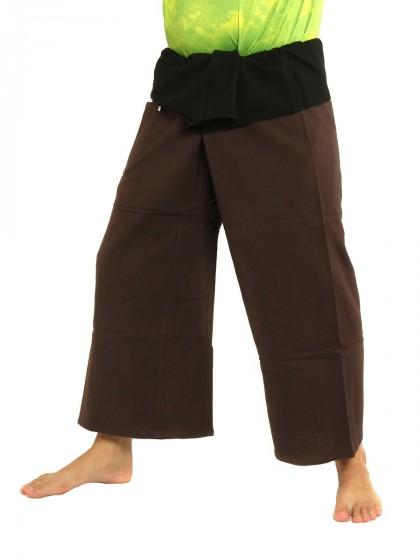 กางเกงเล * ต่อสองสี สีส้มอิฐขอบดำ