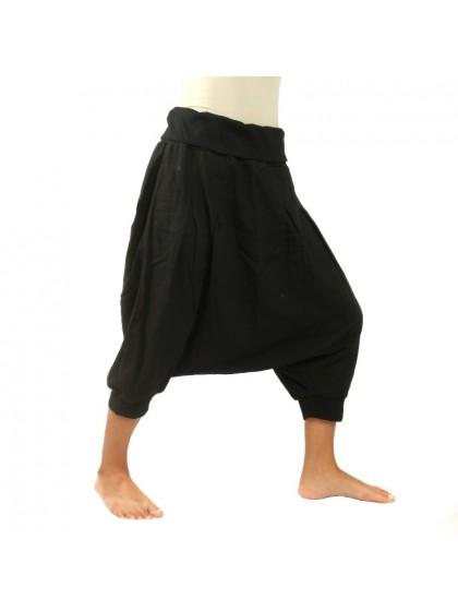 กางเกงอลาดินสั้น สีพื้น* สีดำ