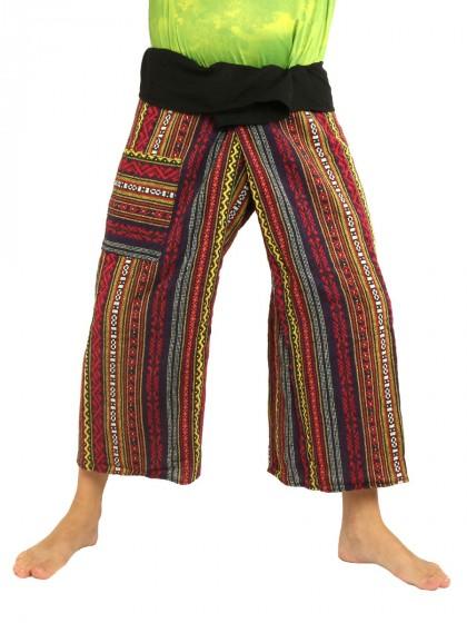 กางเกงเล *ผ้าทอหลากสี