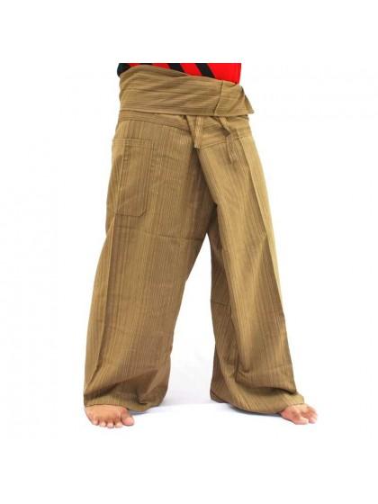 กางเกงเลยาว * สีพื้นตาลแดงสีตามแบบ