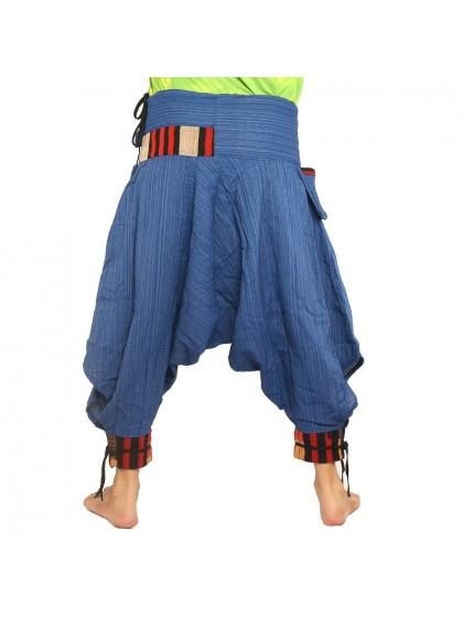 กางเกงม้งผูกขา*สีเงิน