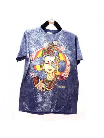เสื้อยึดผ้าฟอกหิน*สีกรม Size M