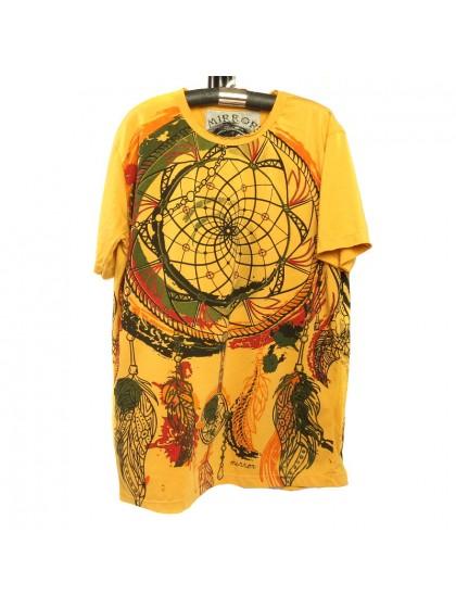เสื้อยืดผ้านิ่ม*สีเหลือง Size M