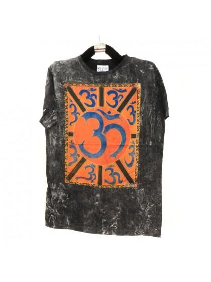 เสื้อยืดผ้าฟอกหิน*สีดำ Size L
