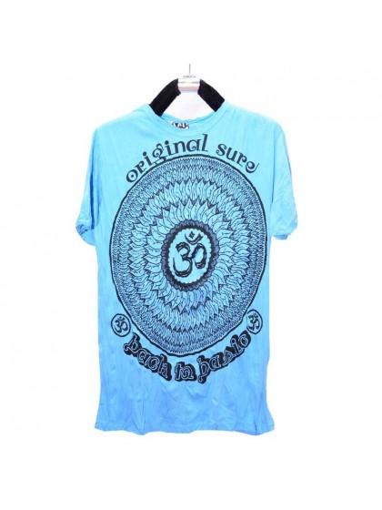 เสื้อยืด*สีฟ้า ลายตามแบบ Size L