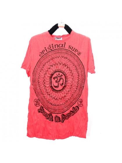เสื้อยืด*สีแดง ลายตามแบบ Size L