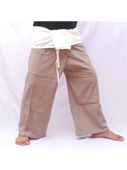 กางเกงเล * ต่อสองสี สีเทาขอบดำ