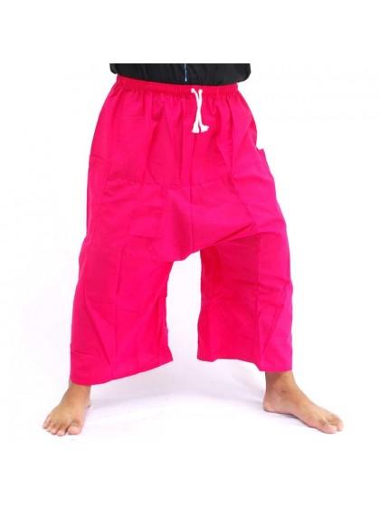 กางเกงเล เอวยางมีเชือกผูก*สีชมพู