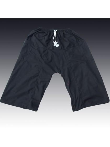 กางเกงเล เอวยางมีเชือกผูก*สีดำ