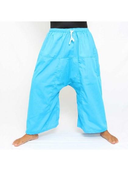 กางเกงเล เอวยางมีเชือกผูก*สีฟ้า