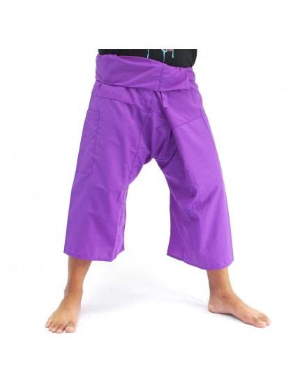 กางเกงเลขาสั้น*สีม่วงอ่อน