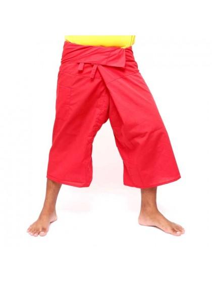 กางเกงเลขาสั้น*สีแดง