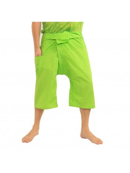 กางเกงเลขาสั้น*สีเขียวมะนาว