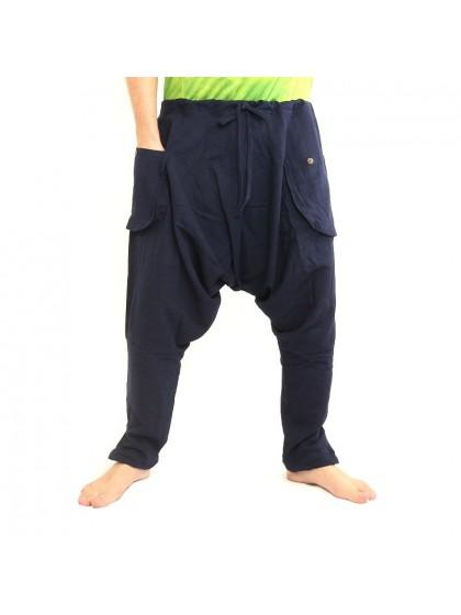 กางเกงขาเดฟ *มีกระดุมที่ขา *สีน้ำเงิน