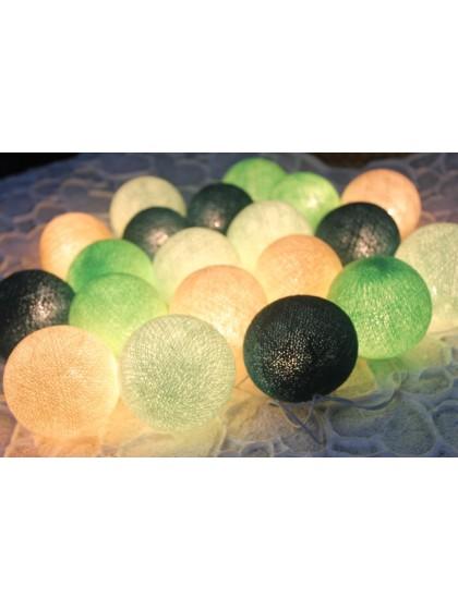 โคมไฟลูกบอล โทนสีเขียว