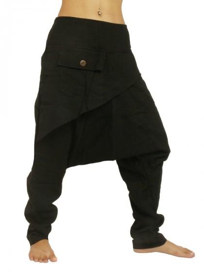 กางเกงผ้าชินมัย * สีดำ*สไตล์ตามแบบ