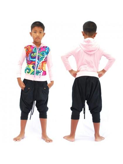 เสื้อแจ็คเก็ตเด็ก* สีส้ม ลายตามแบบ