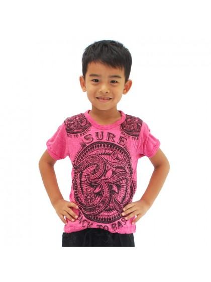 เสื้อยืดเด็ก ลายโอม*สีชมพู Size M