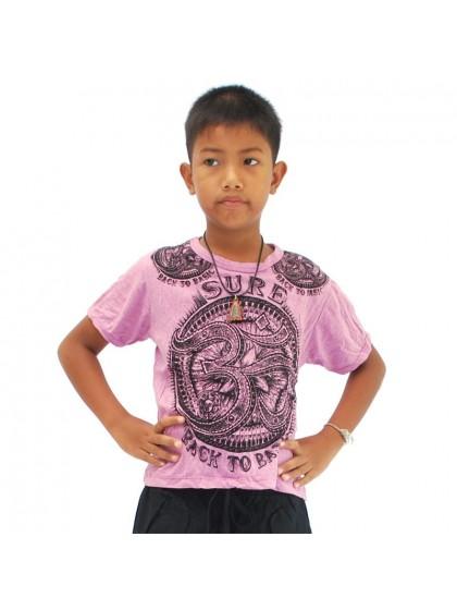 เสื้อยืดเด็ก ลายโอม*สีม่วงอ่อน Size L