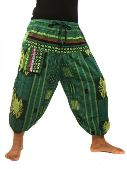 กางเกงขาห้าส่วน*สีเขียว