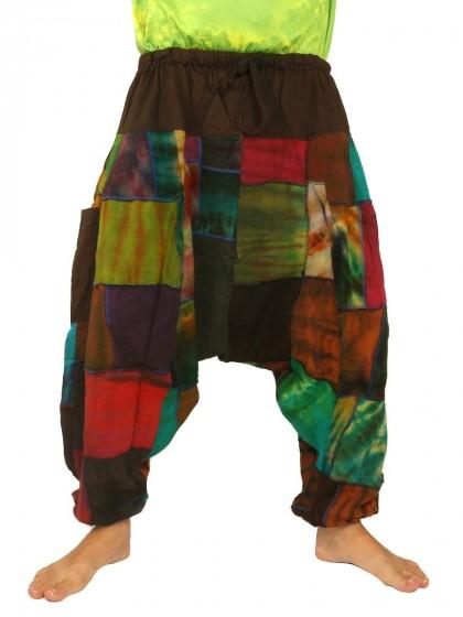 กางเกงอลาดิน ผ้าต่อหลากสี*สีตามแบบ