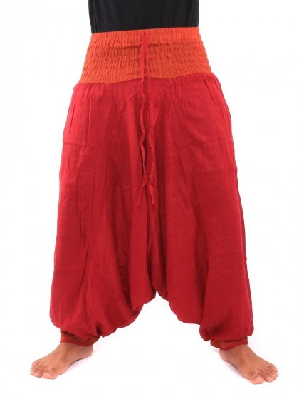 กางเกงอลาดิน * สีส้ม  สีแดงสด