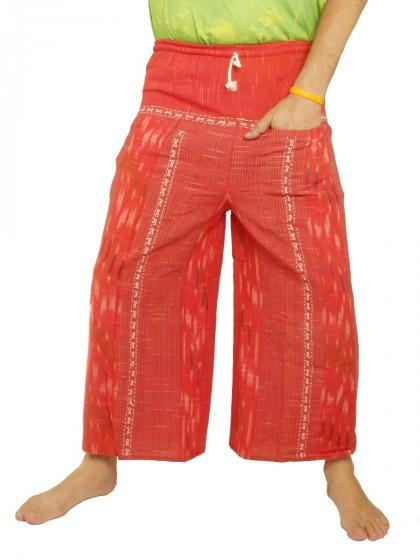 กางเกงฝ้ายจอมทอง เอวยางมีเชือกผูก*สีแดง
