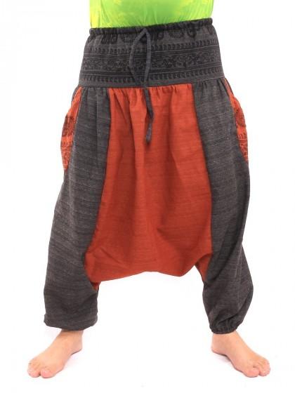 กางเกงอลาดิน ลายโอม * สีส้ม  สีดำ
