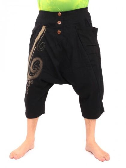 กางเกงอลาดิน สั้น * สีดำ