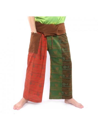 กางเกงเล ขายาว*ลายโอม*ผ้าฟอกหลากสี