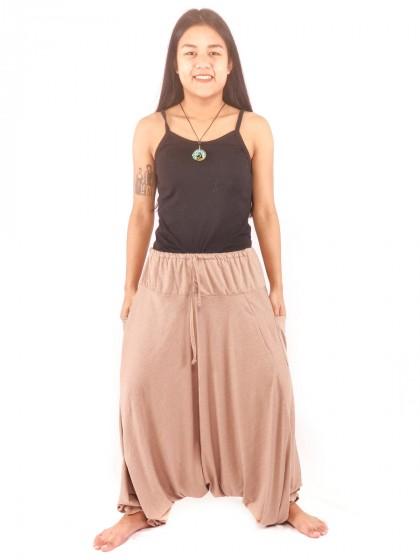 กางเกงฮาเร็ม กางเกงอลาดิน กางเกงแขก ผ้ายืด สีเทา