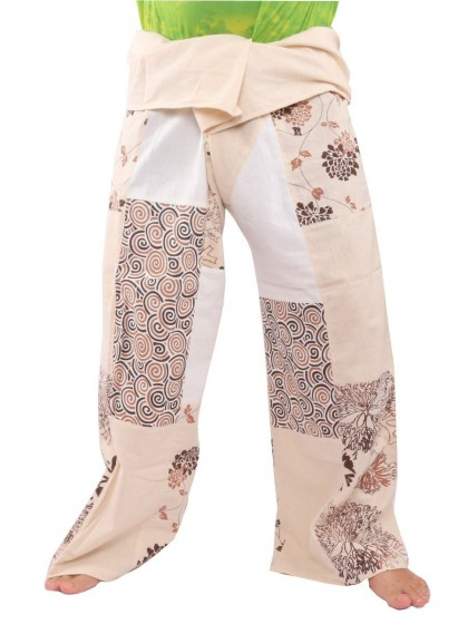 กางเกงเล * สีครีม  สีขาว