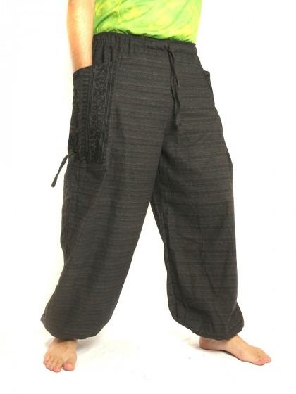 กางเกงฮาเร็ม พิมพ์โอม * สีดำ