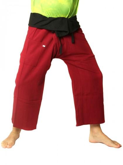 กางเกงเล * ต่อสองสี สีส้มขอบดำ