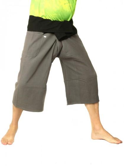 กางเกงเลสั้น * ต่อสองสี สีดำขอบส้ม