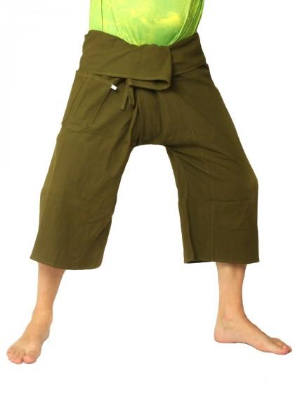กางเกงเล *สีพื้น สีเขียวขี้ม้า